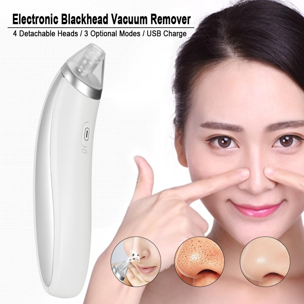 4 In 1 Elektronik Vacuum Remover Komedo Blackhead Jerawat Hisap Pori Wajah Cleaner