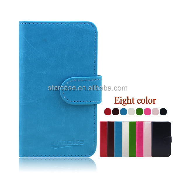 Small MOQ Wholesale High Quality Stand Flip Wallet Flip Leather Case Cover for Blackberry 9360