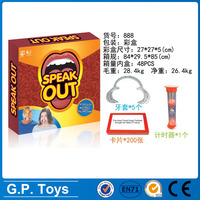 Good quality Hasbro Christmas Party Game mothpieces for speak out board game