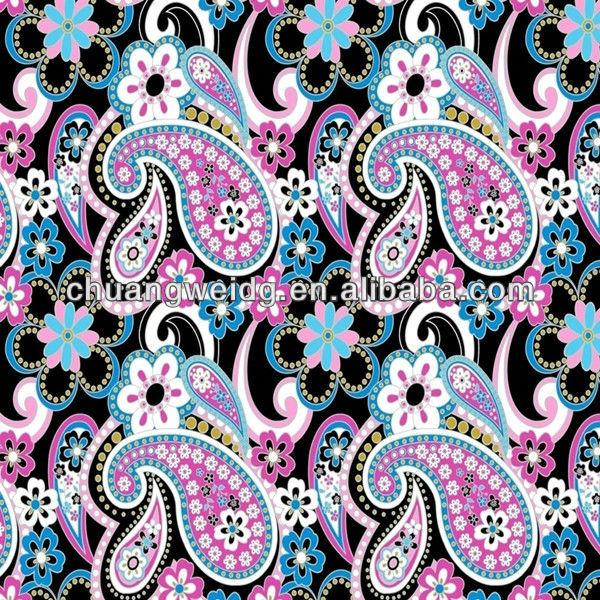 Paisley Design Print Fabric Polyester Lycra Printed Fabric Buy