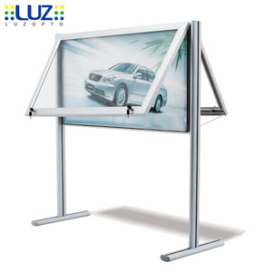 2018 Chinese Wholesale Outdoor Street Advertising Led Light Box Sidewalk Poster Floor Free Standing Display
