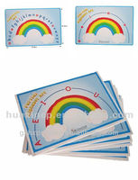 Rainbow printed paper poster for English letters learning
