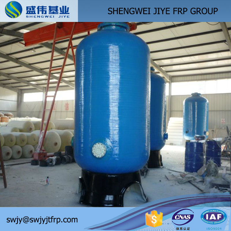 Fiberglass RO Pressure Vessel / Water Softner Tanks Plant / FRP RO Water Filter Tank