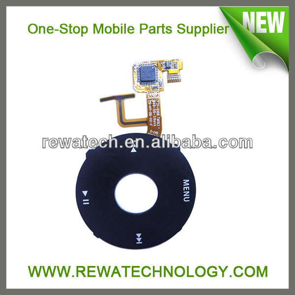 Mobile Phone Parts for iPod Video Click Wheel with Flex Cable Black