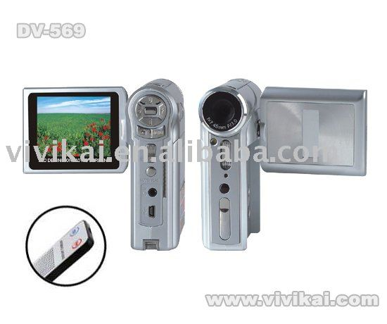 Good quality and low price 2.4 inch LCD 12Mega pixel digital camcorder with TV out MP3 and MPEG4 player vivikai DV-569