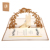 3D pop up card wedding card wedding invitation custom print laser cut envelopes postcard red and golden cover