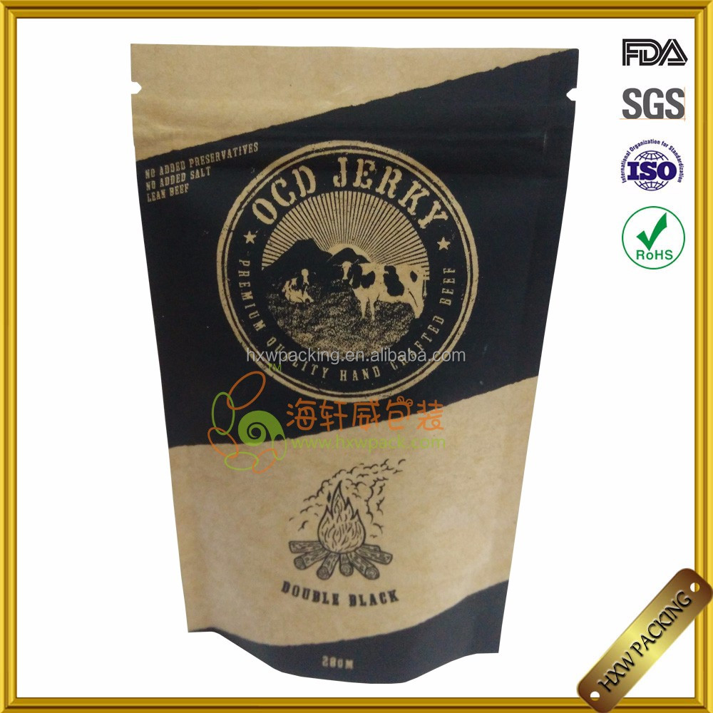 custom printed recycle small jute coffee bean gift stand up paper packaging bag