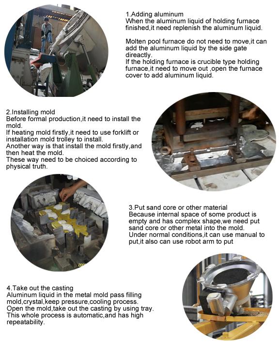 フル オート機械、金属はダイ カスト機械アルミ鋳造のためのダイ カスト