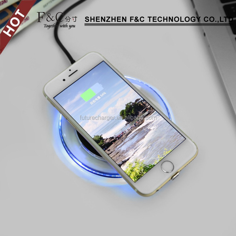 Newest universal qi wireless charger USB led table lamp for samsung wireless charger