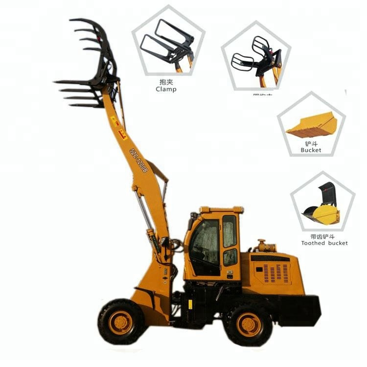 Preço de fábrica máquina de grama traje trator front end carregadeira de rodas