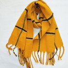 Wholesale Best Selling New Design Products Woven Scarf Yellow Checked Warm Gentleman Lady Scarf Women Hijab