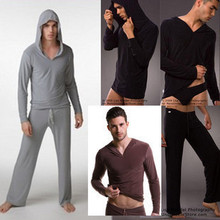 Sexy font b Men s b font Yoga Twinset N2N Tops Pants Comfortable Ice Silk Pajamas