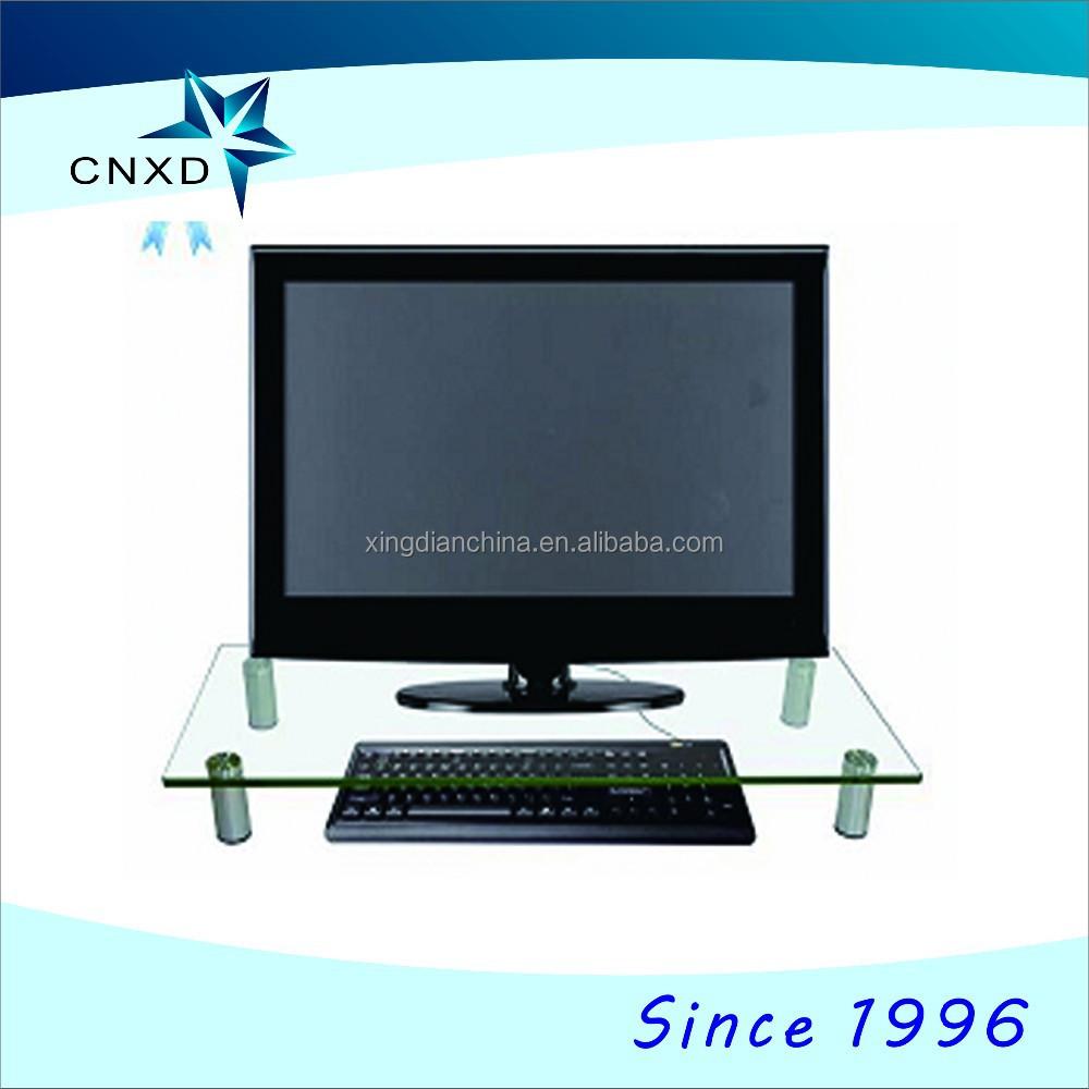 Media Support De Bureau Table Pc Cran D Ordinateur Divertissement  # Meuble Informatique Avec Ecran Retractable Electrique