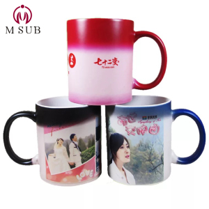 Custom photo printing 11oz sublimation mug magic cup color changing mug