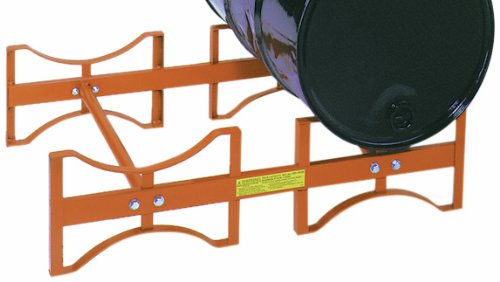 "Wesco 240026 Drum Rack, Steel, 45.5"" x 30"" x 12.5"", 1,600-lb. Load Capacity, For 2 Drums"