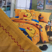 Yellow duck design 100% cotton fabric bedding sets