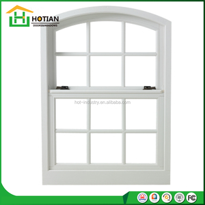 Australia standard PVC double hung window, vertical slider UPVC windows with tempered glass grills windows design
