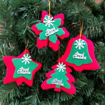 2018 cheap vintage custom gift wall craft fabric felt outdoor tree ornaments bell snowflakes star christmas - Vintage Outdoor Christmas Decorations