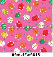 lovely sheep print flannel fleece fabric
