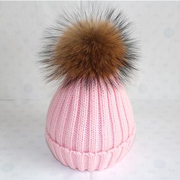 wholesale custom winter women knitted pattern funny pom pom beanie hats 55b595ab2