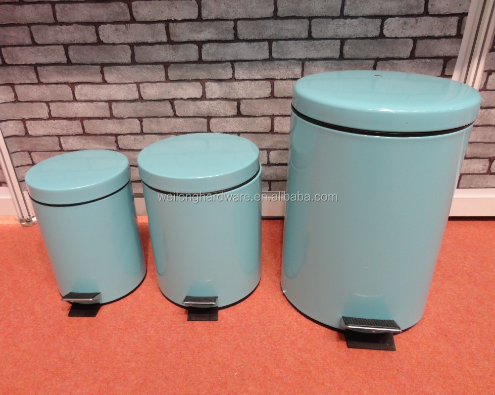 5 Liter Kitchen Round Step Colorful Metal Trash Can Pedal Bin - Buy ...