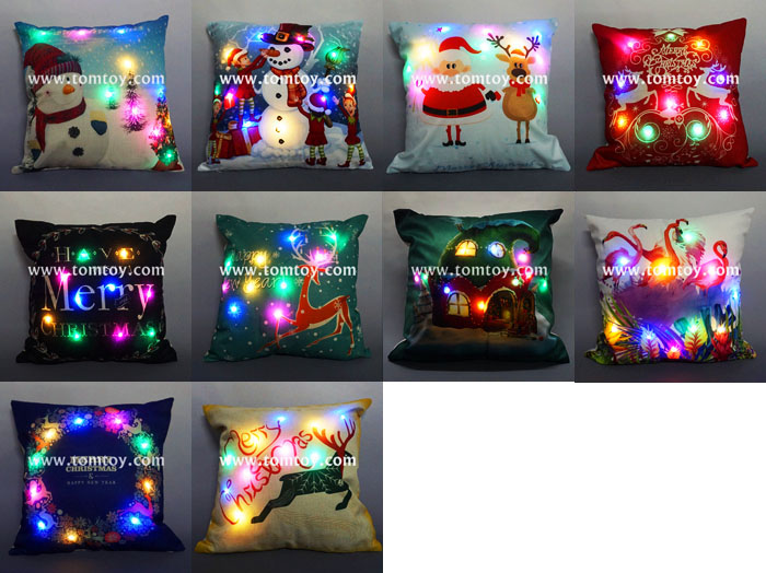 2018 Hot Selling Light Up Christmas Cushion