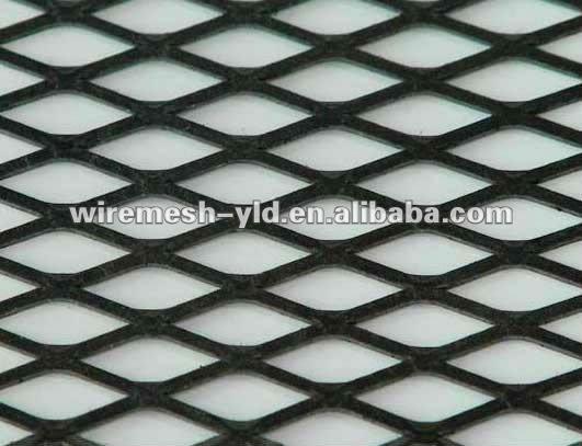 Black Color Spray Mild Steel Expanded Sheet Mesh