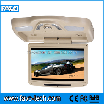 10.2 inch car Flip-down DVD Player with Game, IR, FM, USB