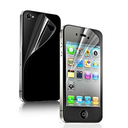 newest ec109 9dae1 12 pcs=6x(Front+Back) HD Clear Screen Protector Cover Film For iPhone 4 4S  mobile film