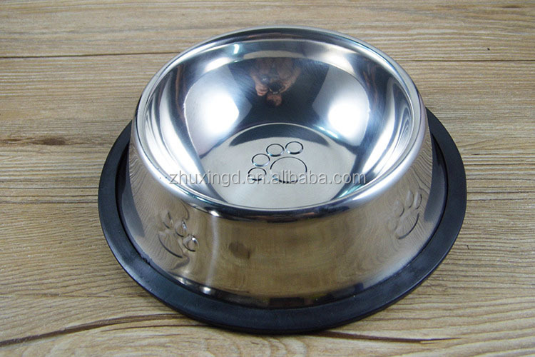 Wholesale stainless steel dog bowl, feeder dog paw, pet steel bowls