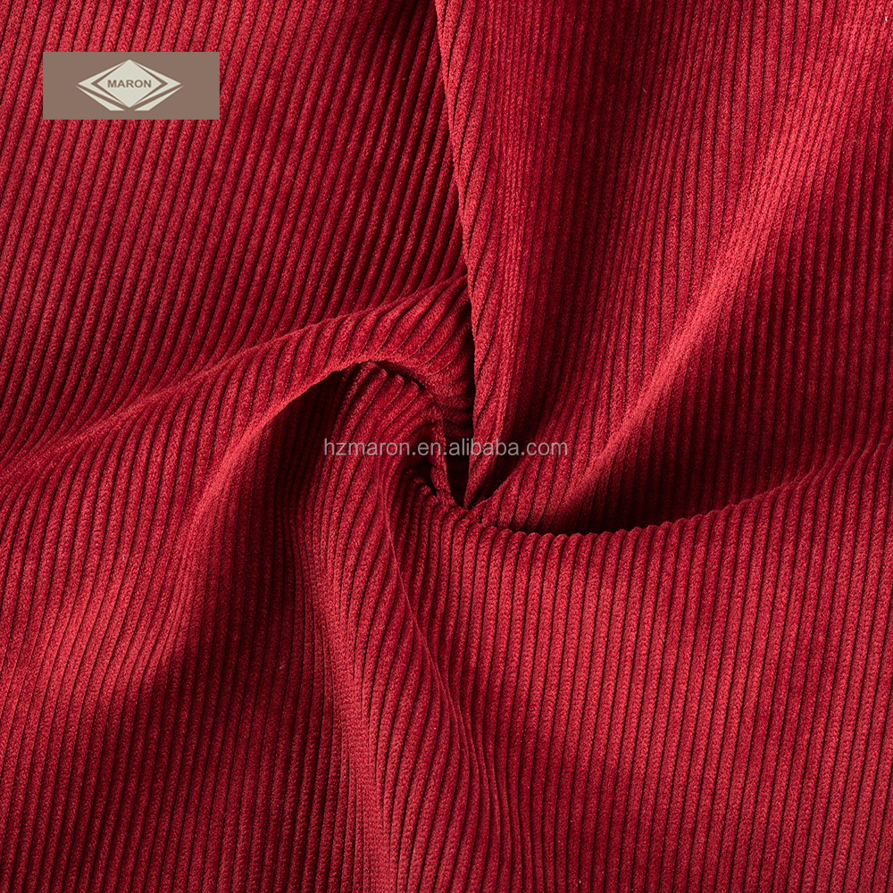 polyester nylon fabric red corduroy fabric for sofa upholstery