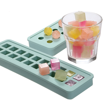 4 Pack Custom BPA free Reusable Flexible mini small Silicone ice cube maker mold for Whiskey