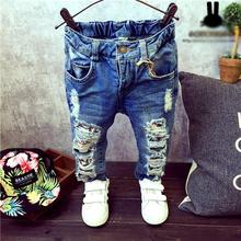 Children Broken Hole Pants Trousers 2015 Baby Boys Girls Jeans Brand Fashion Autumn 2-7Yrs Kids Trousers Children Clothing ZJ04