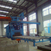 QH69 vertical steel plate shot blasting machine/sandblasting equipment