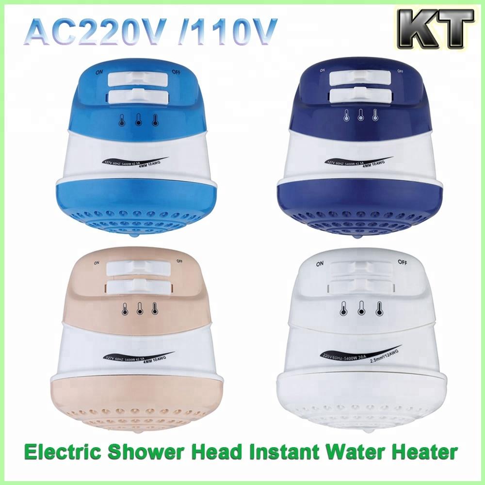 Cuarto de baño ducha montada en la pared calentador de ...