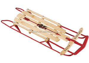 WOOD Classic style snow sled for winter sports