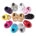 New Arrival Bling Beads Baby Shoes Moccasins Tassel Sequins Leather Kid s Toddler Shoes Cotton Babies