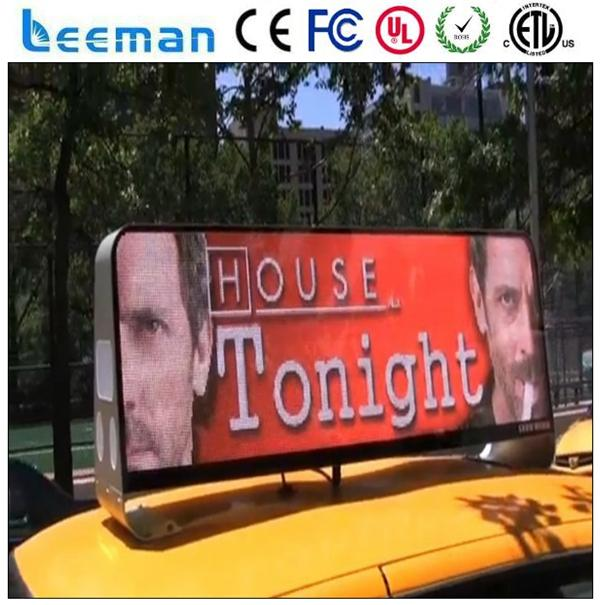 led taxi light box bus stop led display scrolling message led car sign board