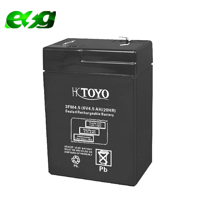 HKTOYO 6v4ah storage battery Selead lead acid battery 6v4.5ah maintenance free battery