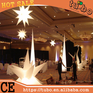 3m blue purple giant inflatable led light star/inflatable star light for party decoration