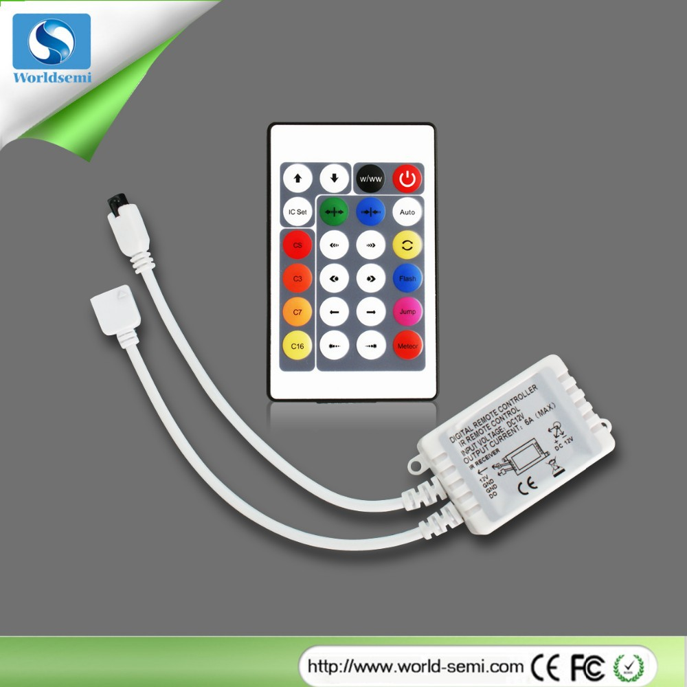 24key IR remote controller for digital led strip