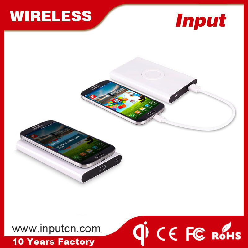 Good sale anti-slip qi wireless power bank high capacity power bank multi use travel charger