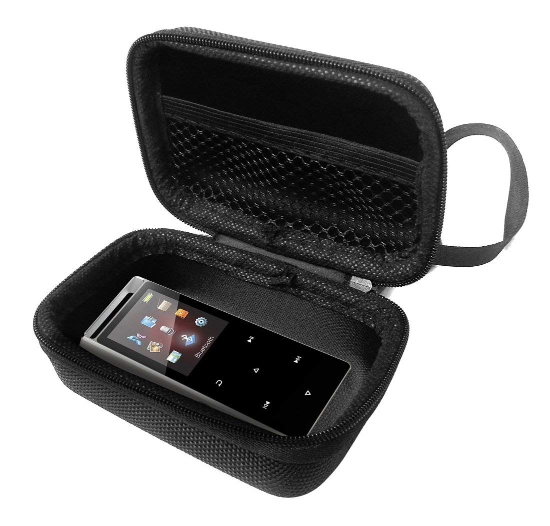FitSand Hard Case for Iyzer Digital Music Player with FM Radio Voice Rocorder Pedometer Travel Zipper Carry EVA Best Protection Box