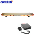 Flat strobe flashing amber roof top mount led light bar with alarm siren