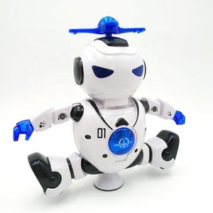 Amazon hot selling Shoutou toys Promo 360 degree Rotates With Light  dancing,music intelligent human toy biped humanoid robot