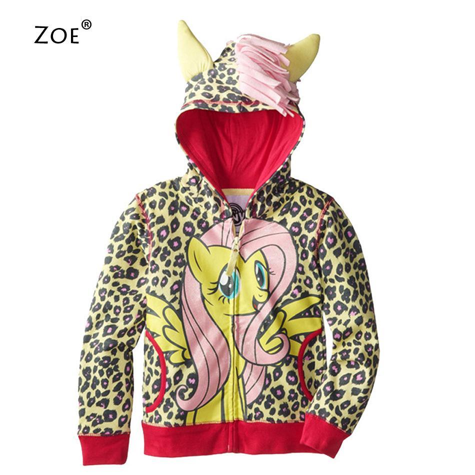 6abd00734ed53 Get Quotations · 2015 Original Single Children Sweatshirts For Girls  Cartoon Little Ponyy Printing Hoodies Sport Zipper Shirt Cute