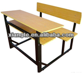 China factory price,school student shelf desk and chair,college student conjoint double desk and chair