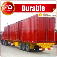 Factory widely used strong cargo box utility trailers for sale to South Africa