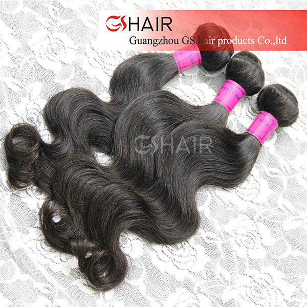 Can be dyed and bleached virgin brazil hair extensions wavy