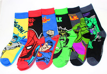 Brand good quality Combed cotton comfortable socks super men hero socks Weed Cotton Socks Stockings